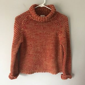 Margaret OLeary chunk knit rust turtleneck sweater
